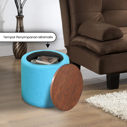 END TABLE AND MULTIFUNCTION STORAGE 40 BLUE TEAL