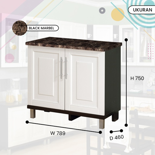KITCHEN SET BAWAH 2P 0108 DARK OAK
